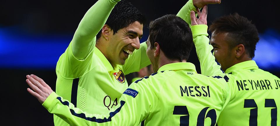 Suarez Celebrates Goal Against Manchester City