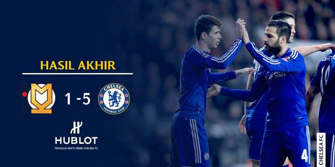 FA CUP: Chelsea FC kalahkan MK DONS 5-1